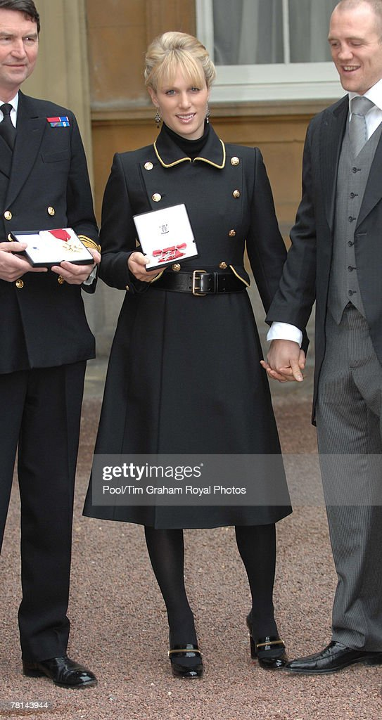 Zara Phillips Receives MBE at Buckingham Palace : News Photo