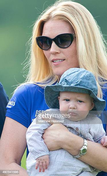 Zara PhillipsÕ baby Mia is held by sisterinlaw Autumn Phillips during the Mike Tindall Celebrity Golf Classic in support of Rugby for Heroes and the...