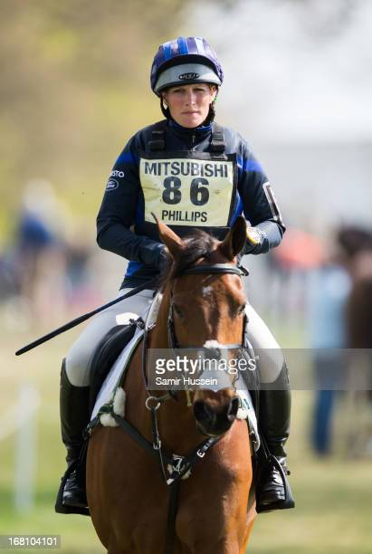 Zara Phillips competes on her horse High Kingdom on Day 3 of the Badminton Horse Trials on May 5 2013 in Badminton England
