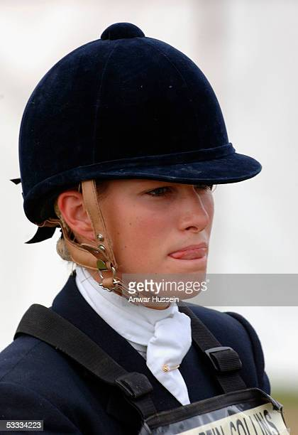 Zara Phillips daughter of Princess Anne rides on the second day of the Gatcombe Park Festival of British Eventing at Gatcombe Park on August 6 2005...