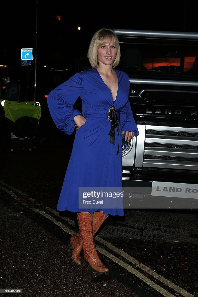 Zara Phillips Poses With Land Rover Donated to The Red Cross : News Photo