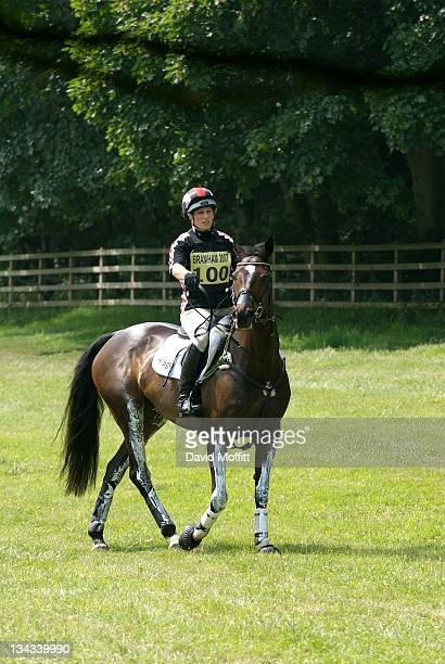 Zara Phillips during the Braham Horse Trials at Braham Park on June 10 2007