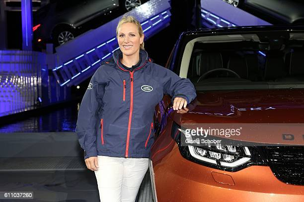 Zara Phillips during the world premiere of the all-new Land Rover Discovery at Packington Hall park on September 28, 2016 in Birmingham, England.