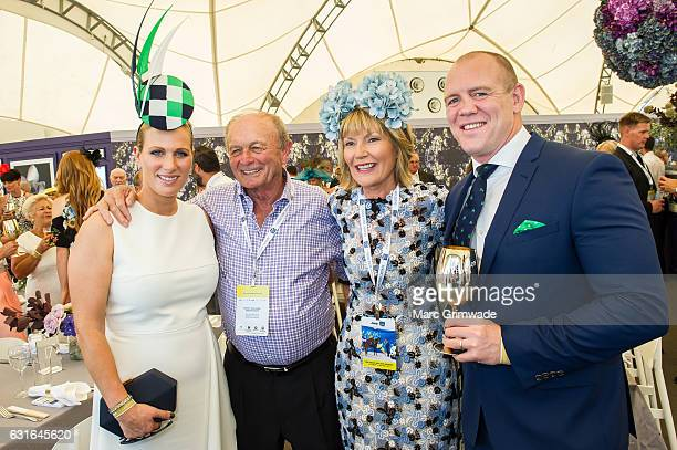 Zara Phillips Gerry Harvey Katie PageHarvey and Mike Tindall attend Magic Millions Raceday on January 14 2017 in Gold Coast Australia