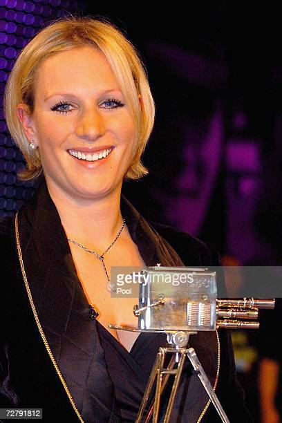 Zara Phillips holds her award after she won the BBC Sports Personality of the Year on December 10 2006 at the Birmingham NEC in Birmingham England