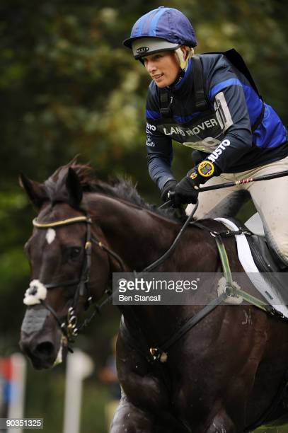 Zara Phillips is seen on Glenbuck during the cross country phase of the Burghley Horse Trials on September 5 2009 in Stamford England