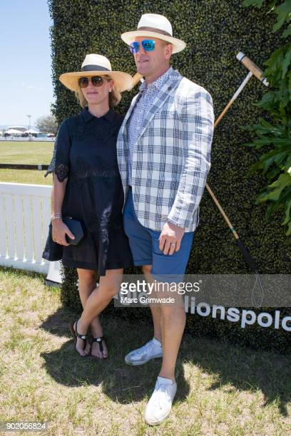 Zara Phillips MBE and husband Mike Tindall attend Magic Millions Polo on January 7 2018 in Gold Coast Australia