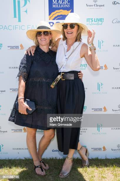 Zara Phillips MBE and Katie Page attends Magic Millions Polo on January 7 2018 in Gold Coast Australia