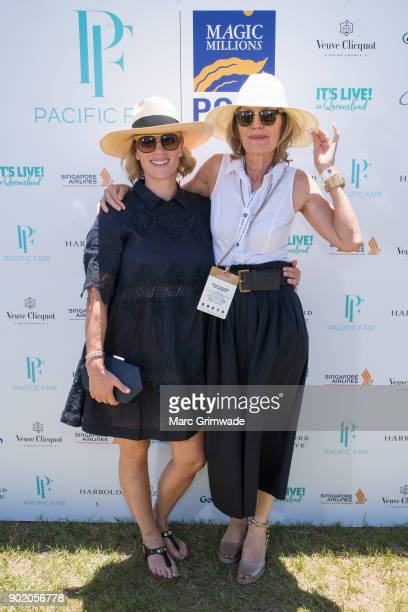 Zara Phillips MBE and Katie Pageattends Magic Millions Polo on January 7 2018 in Gold Coast Australia