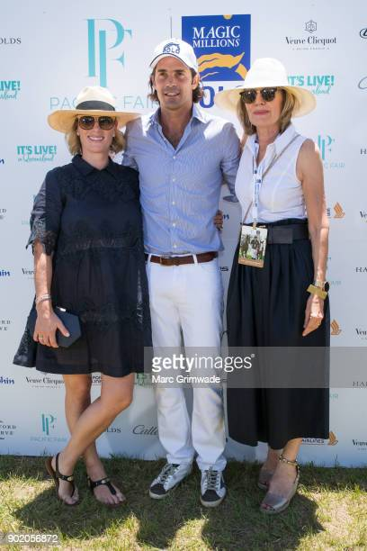 Zara Phillips MBE and polo player Nacho Figeuras and Katie Page attend Magic Millions Polo on January 7 2018 in Gold Coast Australia