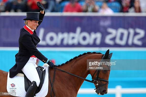 Zara Phillips of Great Britain and her horse High Kingdom compete in Individual Eventing on Day 2 of the London 2012 Olympic Games at Greenwich Park...