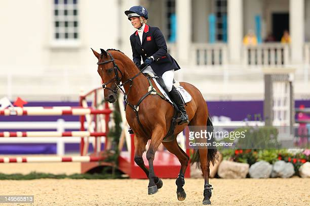 Zara Phillips of Great Britain riding High Kingdom in action in the Show Jumping Eventing Equestrian event on Day 4 of the London 2012 Olympic Games...