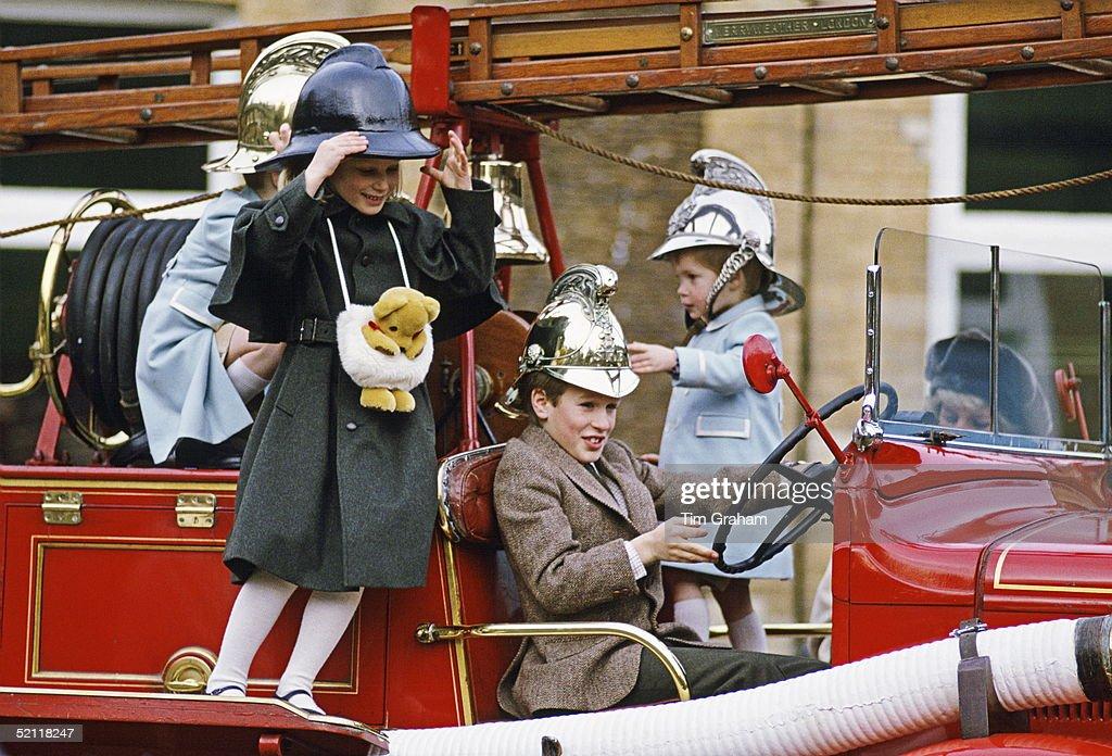 Harry Zara And Peter Phillips In Sandringham : News Photo