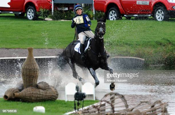 Zara Phillips rides her horse Glenbuck in the cross country section at Badminton Horse Trials on May 2, 2010 in Badminton, England