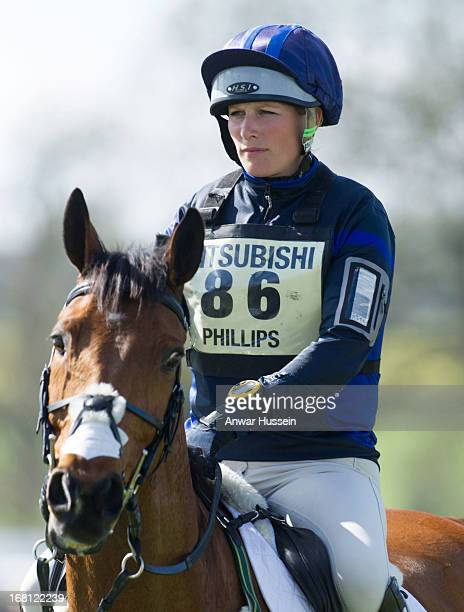 Zara Phillips rides her horse High Kingdom during the fourth day of the Mitsubishi Motors Badminton Horse Trials on May 5 2013 in Badminton England