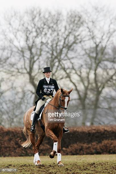 Zara Phillips riding her European Champion horse in Dressage at the British Eventing Gatcombe Horse Trials on March 26, 2006 at Gatcombe Park in...