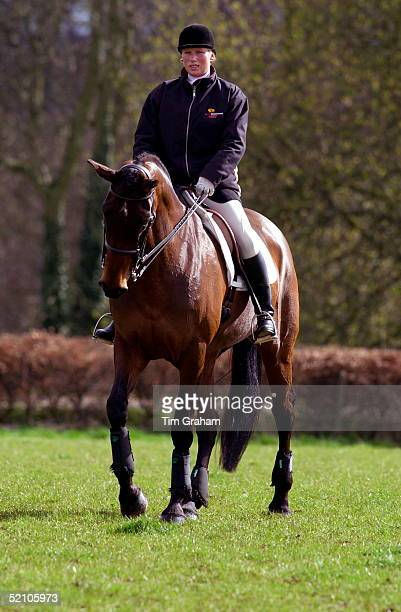 Zara Phillips Riding Princess Anne's Horse French Willow At Gatcombe Park Horse Trials Where She Is Competing For The First Time