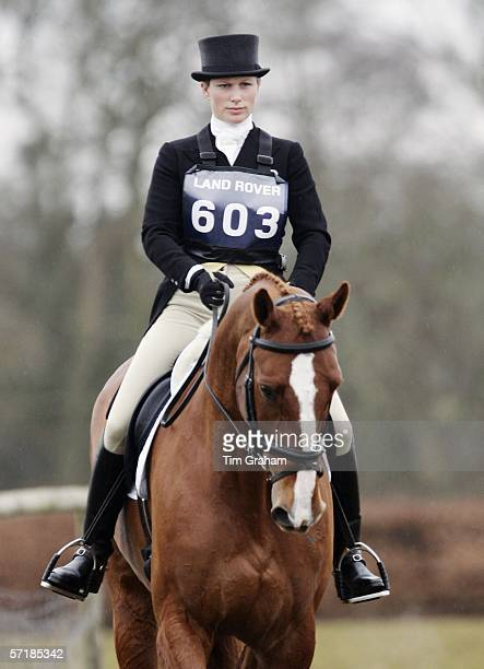 Zara Phillips riding Red Baron in an Advanced Intermediate Dressage competition at the British Eventing Gatcombe Horse Trials sponsored by Land Rover...