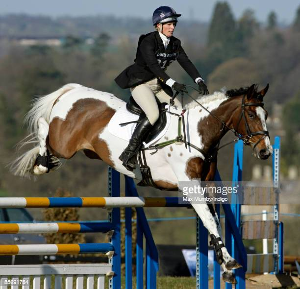 Zara Phillips riding Tiger Lily IX on day 2 of Gatcombe Horse Trials on March 29 2009 at Gatcombe Park Stroud England