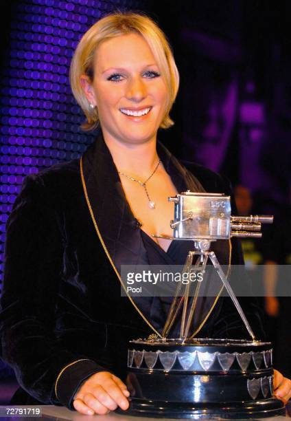 Zara Phillips stands with her award after she won the BBC Sports Personality of the Year on December 10 2006 at the Birmingham NEC in Birmingham...