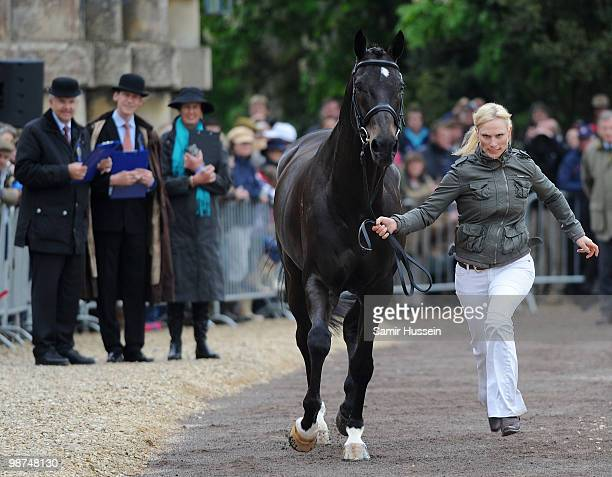 Zara Phillips takes part in the horse inspection with her horse Glenbuck at Badminton Horse Trials on April 29, 2010 in Badminton, England.