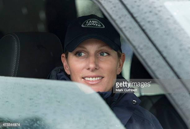 Zara Phillips tries out the Land Rover experience as she attends the Royal Windsor Horse show in the private grounds of Windsor Castle on May 14,...