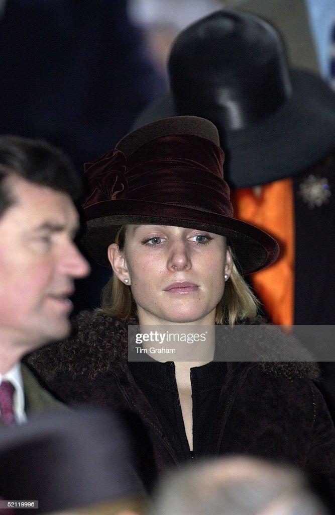 Zara Phillips Frowning : News Photo