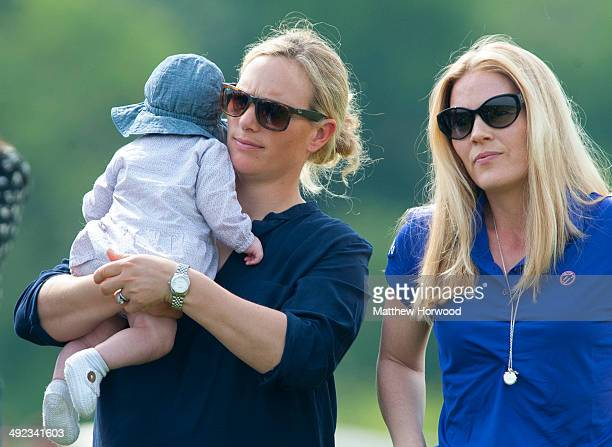 Zara Phillips with baby Mia and sisterinlaw Autumn Phillips during the Mike Tindall Celebrity Golf Classic in support of Rugby for Heroes and the On...
