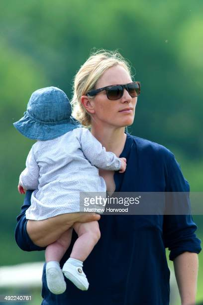 Zara Phillips with baby Mia during the Mike Tindall Celebrity Golf Classic event in support of Rugby for Heroes and the On Course Foundation at the...