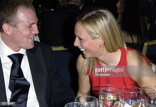 Zara Phillips With Her Friend New Zealand Rugby Player Mike Tindall At A Charity Ball At The Hilton Hotel To Raise Funds For Tommy's, The Baby...