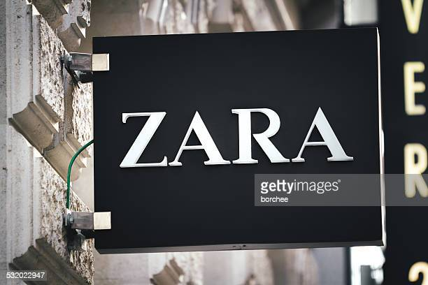 zara sign in vienna - zara brand name stock pictures, royalty-free photos & images