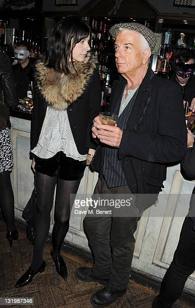 Zara Simon and Nicky Haslam attend the Alice Olivia Black Tie Carnival hosted by designer Stacey Bendet at Paradise by Way of Kensal Green on...