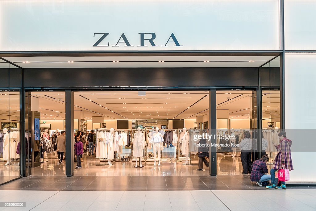 Zara store entrance in Eaton Center. The company is a... : News Photo