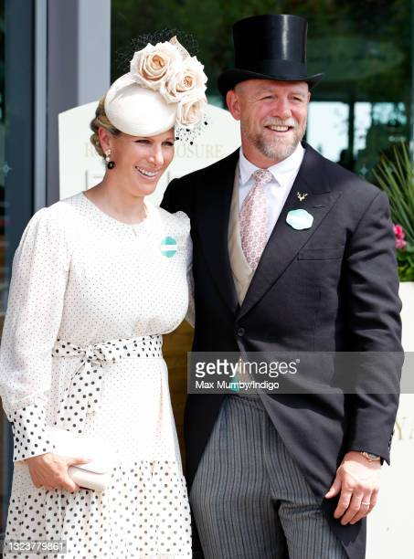 Zara Tindall and Mike Tindall attend day 1 of Royal Ascot at Ascot Racecourse on June 15, 2021 in Ascot, England.
