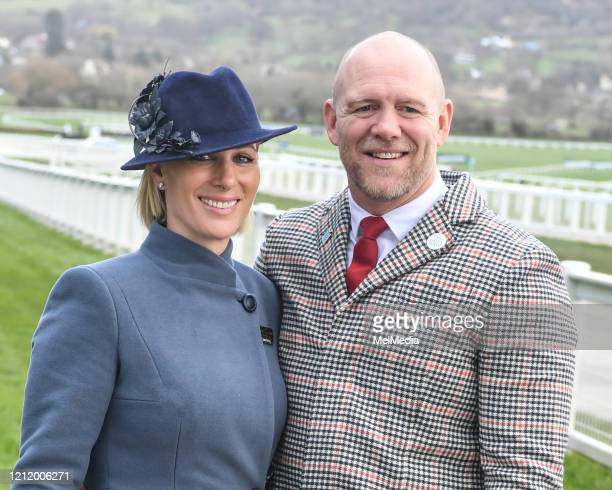 Zara Tindall and Mike Tindall attend Day 3 of the Cheltenham Festival 2020 at Cheltenham Racecourse on March 12 2020 in Cheltenham England