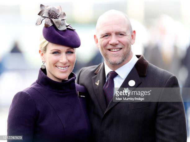 Zara Tindall and Mike Tindall attend day 4 'Gold Cup Day' of the Cheltenham Festival 2020 at Cheltenham Racecourse on March 13, 2020 in Cheltenham,...
