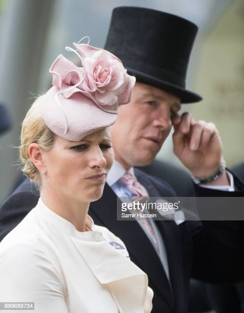 Zara Tindall and Mike Tindall attend Royal Ascot 2017 at Ascot Racecourse on June 22 2017 in Ascot England