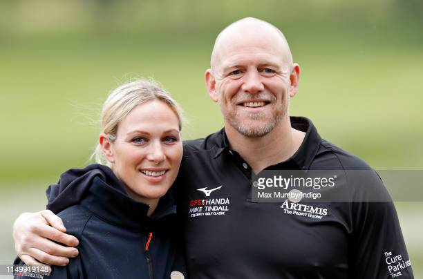Zara Tindall and Mike Tindall attend the ISPS Handa Mike Tindall Celebrity Golf Classic at The Belfry on May 17 2019 in Sutton Coldfield England