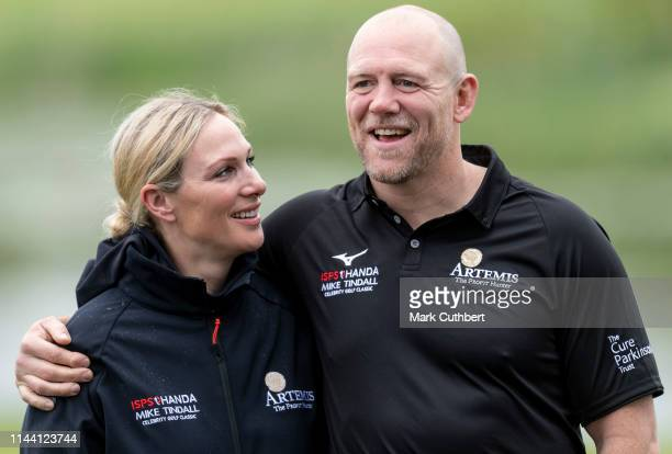 Zara Tindall and Mike Tindall during the Mike Tindall Celebrity Golf Classic at The Belfry on May 17, 2019 in Sutton Coldfield, England.