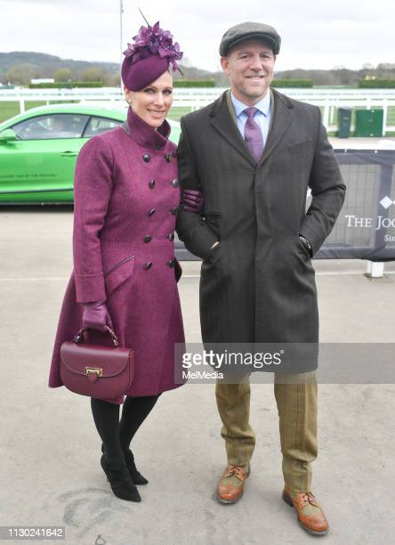 Zara Tindall and Mike Tindall seen at Ladies Day The Festival Cheltenham Racecourse on March 13 2019 in Cheltenham Gloucestershire England