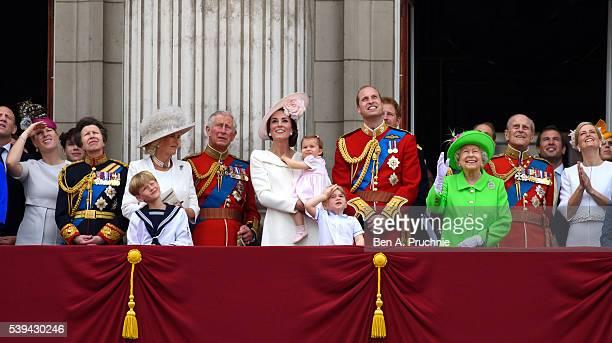 Zara Tindall Anne Princess Royal Camilla Duchess of Cornwall Charles Prince of Wales Catherine Duchess of Cambridge Princess Charlotte of Cambridge...