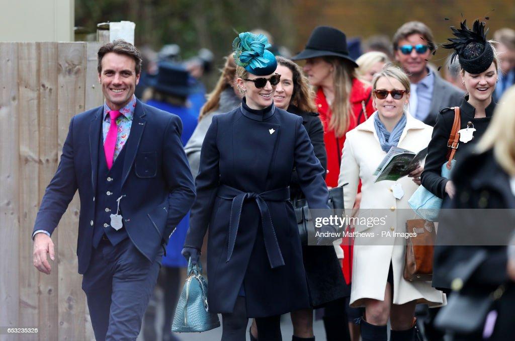 Zara Tindall (second left) attending Champion Day of the 2017 Cheltenham Festival at Cheltenham Racecourse.