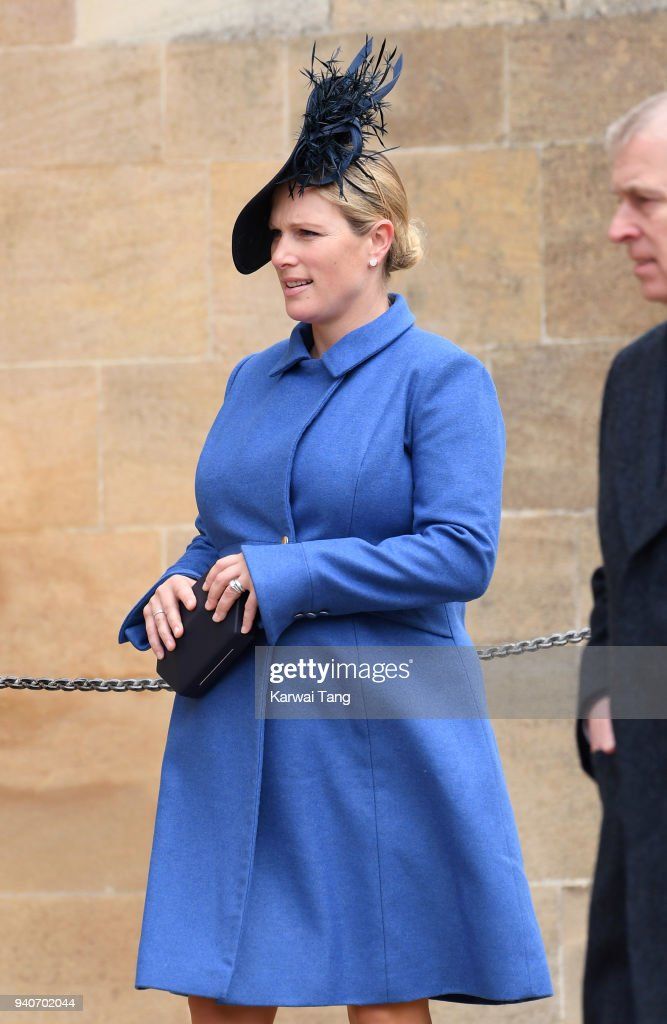 The Royal Family Attend Easter Service At St George's Chapel, Windsor : Fotografía de noticias