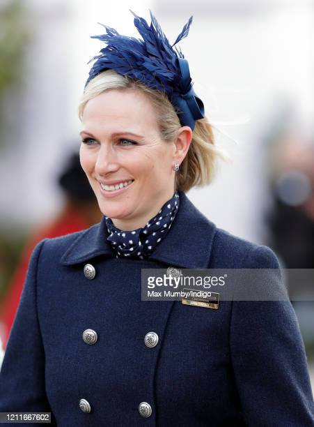 Zara Tindall attends day 1 'Champion Day' of the Cheltenham Festival 2020 at Cheltenham Racecourse on March 10 2020 in Cheltenham England