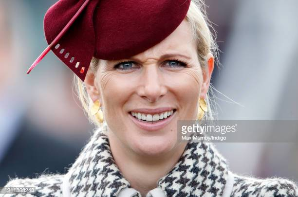 Zara Tindall attends day 2 'Ladies Day' of the Cheltenham Festival 2020 at Cheltenham Racecourse on March 11 2020 in Cheltenham England