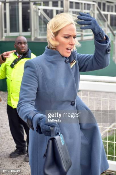 Zara Tindall attends Day 3 of the Cheltenham Festival 2020 at Cheltenham Racecourse on March 12 2020 in Cheltenham England