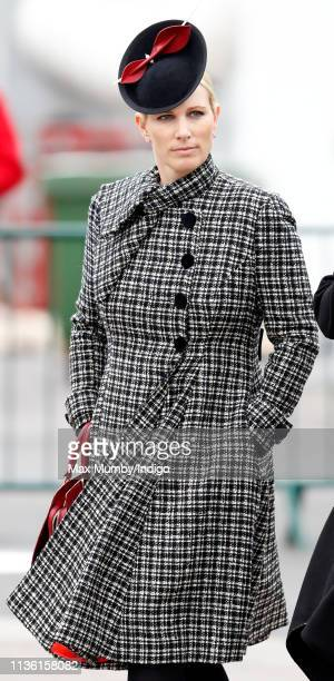 Zara Tindall attends day 4 'Gold Cup Day' of the Cheltenham Festival at Cheltenham Racecourse on March 15, 2019 in Cheltenham, England.