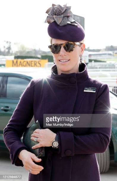 Zara Tindall attends day 4 'Gold Cup Day' of the Cheltenham Festival 2020 at Cheltenham Racecourse on March 13 2020 in Cheltenham England