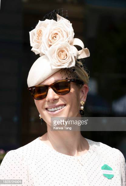 Zara Tindall attends day one of Royal Ascot 2021 at Ascot Racecourse on June 15, 2021 in Ascot, England.