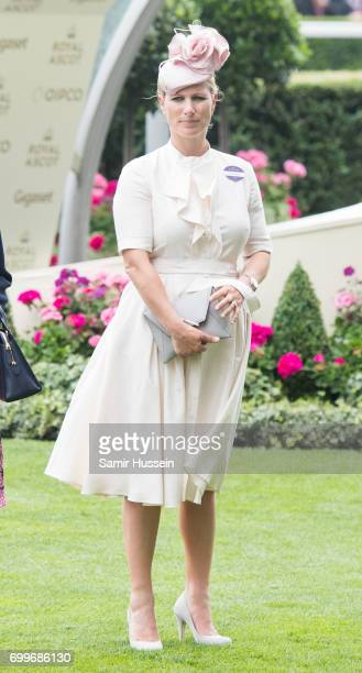 Zara Tindall attends Royal Ascot 2017 at Ascot Racecourse on June 22 2017 in Ascot England